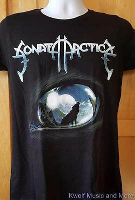 """SONATA ARCTICA Juniors T-Shirt  """"Wolves Die Young"""" Official Juniors/Large  NEW"""