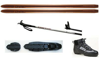 NEW NORSK Cherry XC cross country NNN SKIS/BINDINGS/BOOTS/POLES PACKAGE - 180cm
