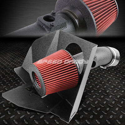 Wrinkle Finish Aluminum Cold Air Intake+Heat Shield For 07-11 Camry/-16 Venza V6