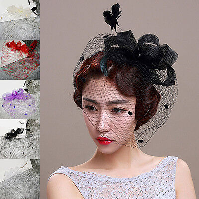 Women Grenadine Church Derby Wedding Bridal Hat Ladies Cap Face Gauze