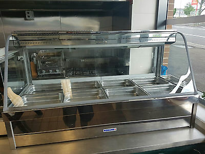 Roband Hot Bain Marie 8 tray Curved glass