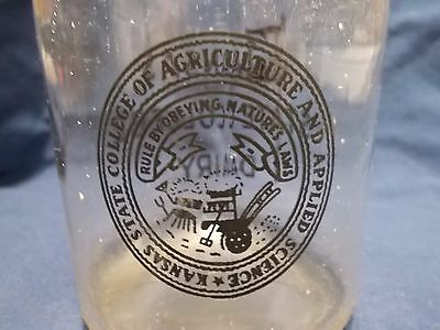 RARE Kansas State College Dairy Milk Bottle Kansas State College of Agriculture