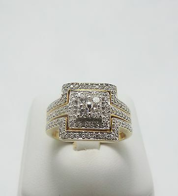 9Ct Yellow Gold Diamond Bridal Set Of 3 Rings Valued @$1968 Comes With Valuation