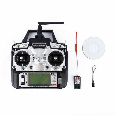 Flysky FS-T6 Radio Control 2.4G 6 Channel Transmitter+Receiver for RC Helicopter
