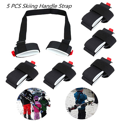 5PCS Adjustable Ski Pole Shoulder Hand Carrier Lash Handle Straps Porter Loop P
