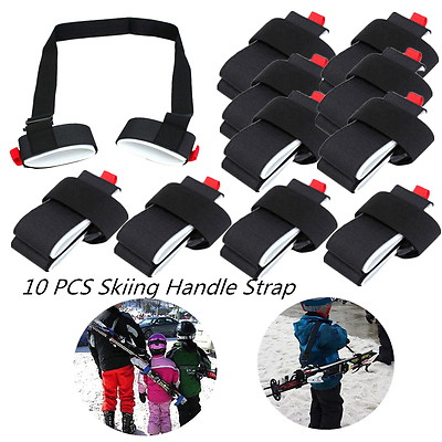 10PCS Adjustable Ski Pole Shoulder Hand Carrier Lash Handle Straps Porter Loop P