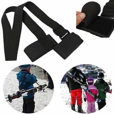 Adjustable Ski Pole Shoulder Hand Carrier Lash Handle Straps Porter Hook Loop MP