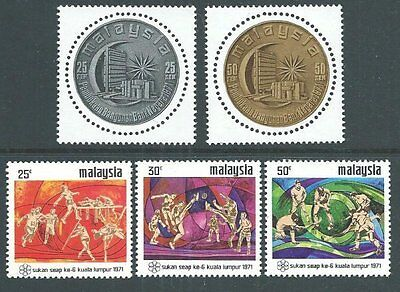 MALAYSIA 1971 Games set mint lightly hinged; Bank set MNH..................64154