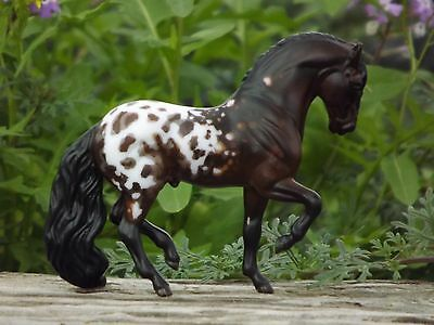 """Breyer Stablemate Custom Andalusian into Bay Appy Spanish Jennet """"Tiger Horse"""""""