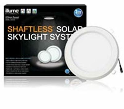 Illume Skylight System Kit Round 270Mm Solar Panel Light With White Frame