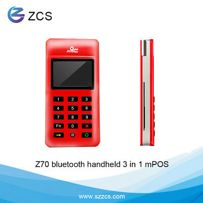 New product Z70 handheld mpos magnetic RFID  IC bluetooth card reader