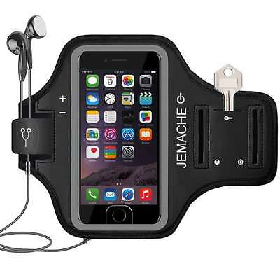 iPhone 7 Armband, JEMACHE Sport Running Exercise Gym Arm Band Case for iPhone 6/