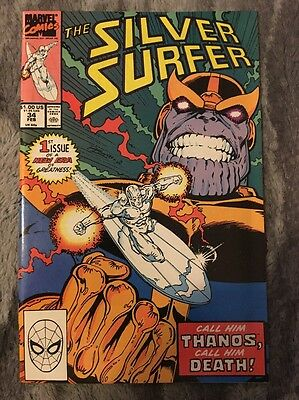 Silver Surfer #34 1987 2nd Series Marvel Comics. Vs Thanos