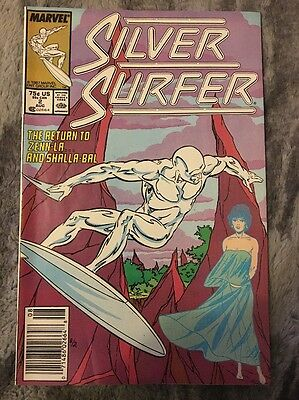 Silver Surfer #2 1987 2nd Series Marvel Comics.