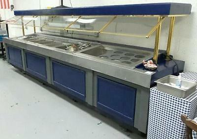 "189"" Custom APW Hot and Cold Food Pan Buffet Salad Bar"