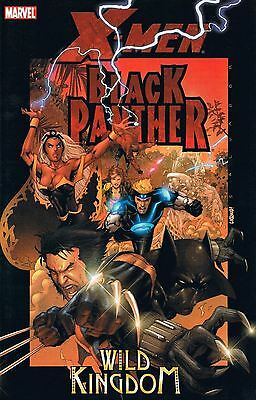 X-MEN / BLACK PANTHER: WILD KINGDOM  (Marvel 2006 TPB SC ~ Milligan)  VF+