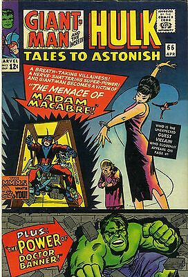 Tales To Astonish #66 April 1965 Featuring Giant-Man &  The Incredible Hulk
