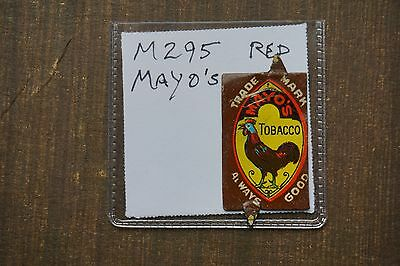 Vintage Tobacco Tag MAYO'S TOBACCO RED ROOSTER