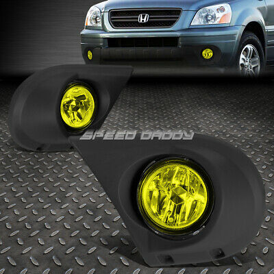 FOR 03-05 HONDA Pilot Yf1 J35 Suv Yellow Lens Oe Bumper Driving Fog Light  Lamp
