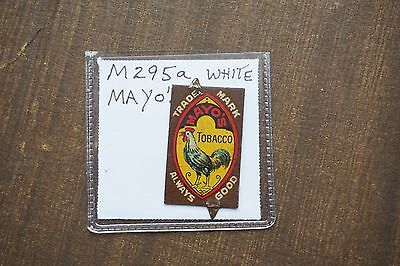 Vintage Tobacco Tag MAYO'S TOBACCO White Rooster