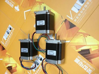 Longs Motor 3pcs NEMA23 270oz CNC 4leads stepper motor 3.0A 23HS8430