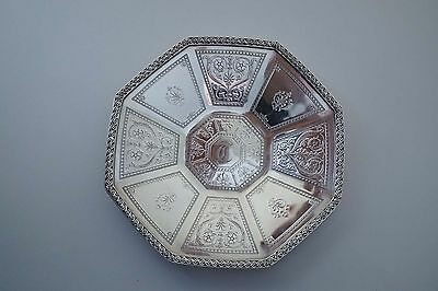 """Tiffany & Co Makers Sterling Silver Ornate 8"""" Footed Dish Plate 330 Grams  A649"""