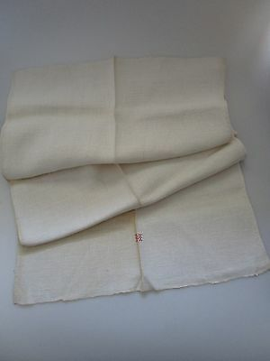 Fabulous Antique French Homespun Linen and Hemp Towel 17 x 42 inches