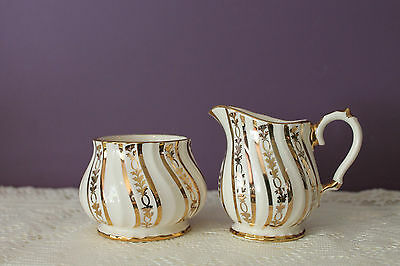 Sadler England Cream And Open Sugar Gold Swirls