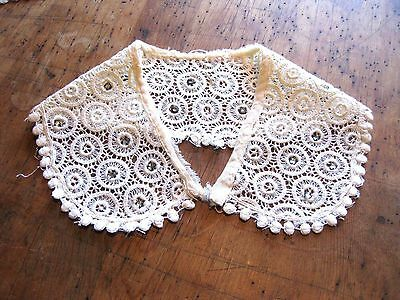 Vintage Off White Lace Collar with Embellishments 9