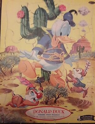 DONALD DUCK © 1960 Whitman 4428 Tray Puzzle