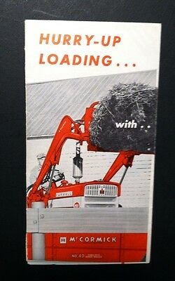 McCormick International Tractor Loaders advertising brochure 1960