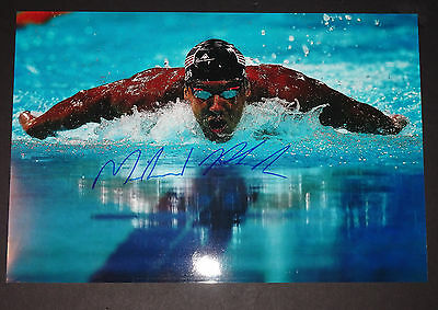 Michael Phelps Signed Autographed 12X18 Photo Team Usa Rio Olympics With Proof