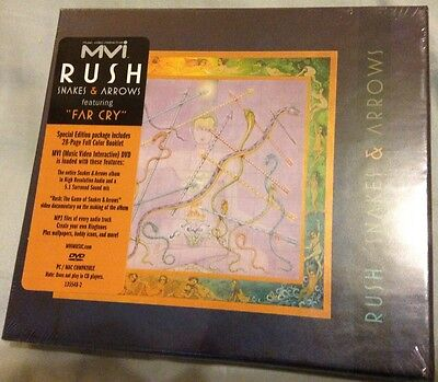 Rush Snakes and Arrows MVI DVD 5.1 OOP Rare