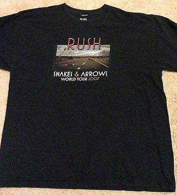 Rush Snakes and Arrows Tour 2007 Shirt XL OOP