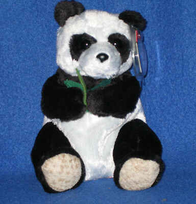 02943ca0037 TY LI MEI the PANDA BEANIE BABY - TY EXCLUSIVE WWF - MINT with MINT ...
