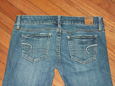 Womens American Eagle Skinny Low Rise Stretch Jeans Size 2R