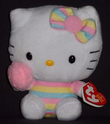 TY HELLO KITTY COTTON CANDY BEANIE BABY - MINT with MINT TAG
