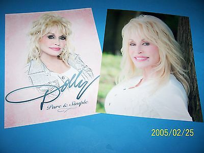 Dolly Parton Set Of (2) 8.5 X 11 Photo`s Beautiful 'pure & Simple