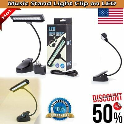 9 LED USB Reading Light Clip-on Table Light Music Stand Piano Lamps Book Lights