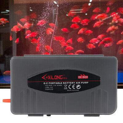 5W Aquarium Battery Operated Fish Tank Air Pump Aerator Oxygen With Air Stone