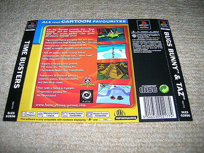 TIME BUSTERS – PS1 PAL Rear Box Art Insert Only