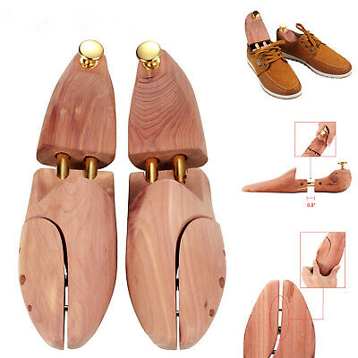 US Cedar Wood Shoe Tree Stretch Adjustable Shoe Shaper US Size 8-9 1 Pair