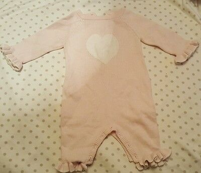 up to 3 months girls knitted romper