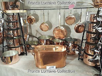 French antique daubiere braisiere cuivre copper chef pans professional pan pots