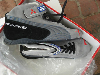 Brand New MITSUBISHI LANCER EVO VII 7 Shoes Puma SPARCO Rare as Hen's teeth.