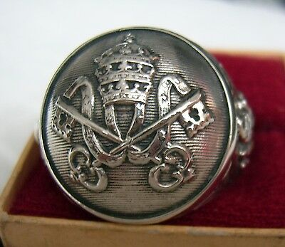 CHRISTIAN RING Vatican STERLING 925 SILVER