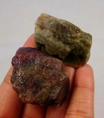 270 Cts. 100% NATURAL RUBY KYANITE ROUGH LOT MINERALS SPECIMEN (A723)