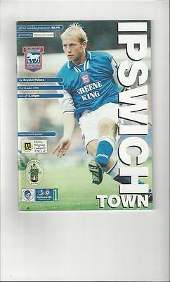 Ipswich Town v Crystal Palace Football Programme 1998/99