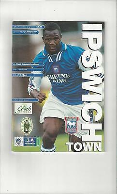 Ipswich Town v West Bromwich Albion Football Programme 1998/99