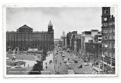 Postcard: Belfast Donegall Square (early 60s) with buses and cars